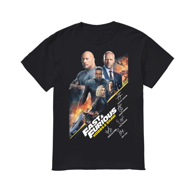 Hobbs and Shaw in The Fast and the Furious shirt