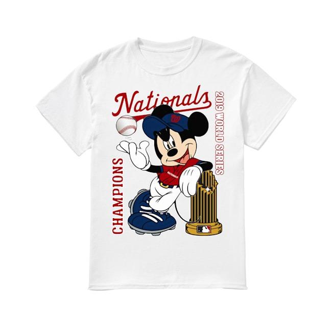 Walt Disney Mickey Mouse Washington Nationals Champions 2019 World Series shirt