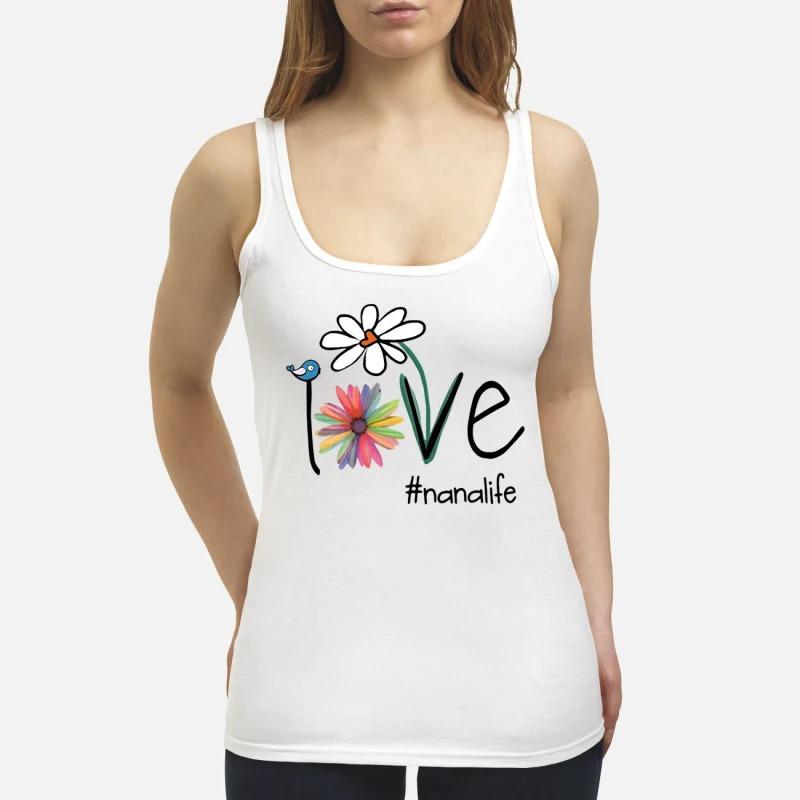 Bird flower love #nanalife Tank Top