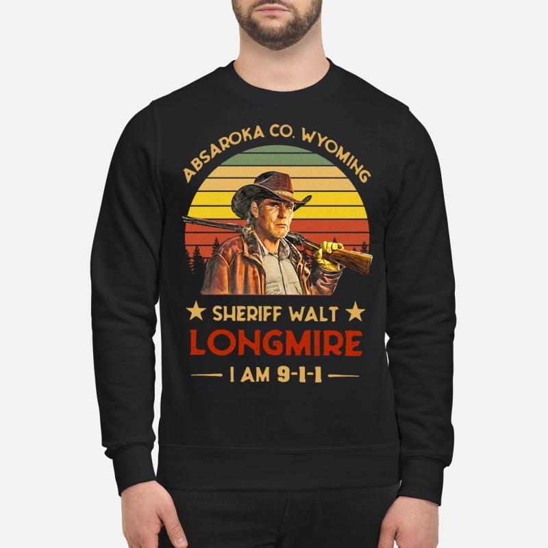 Absaroka Co. Wyoming Sheriff Walt Longmire I am 911 Sweater