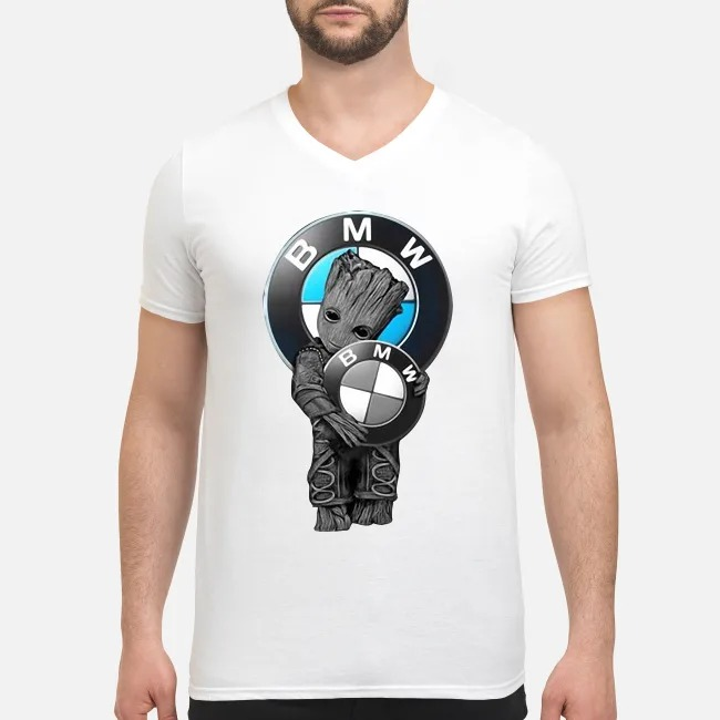 Baby Groot love BMW V-neck T-shirt