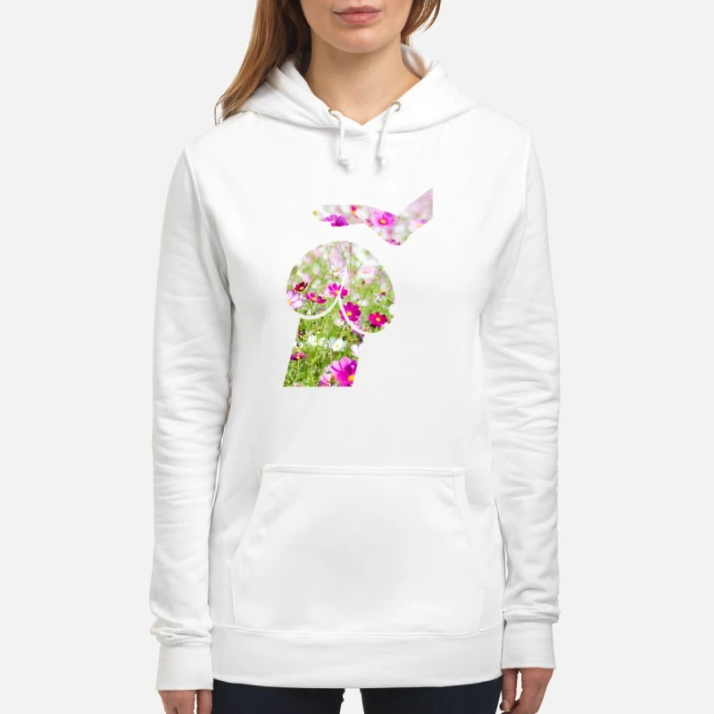 Dog and hand is flowers Hoodie