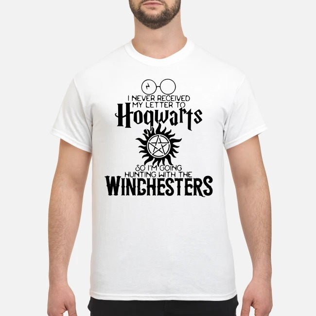 Harry potter never received my letter to hogwarts so im going hunting with the winchesters shirt