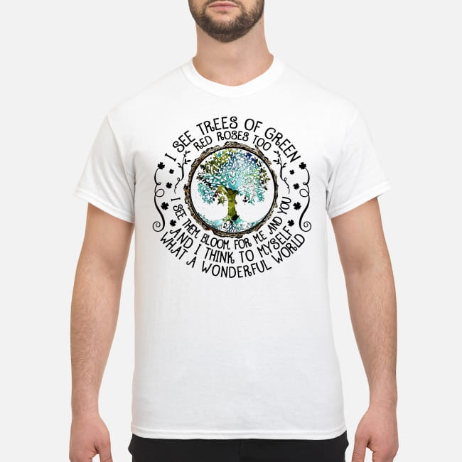 Louis Armstrong What a wonderful world shirt
