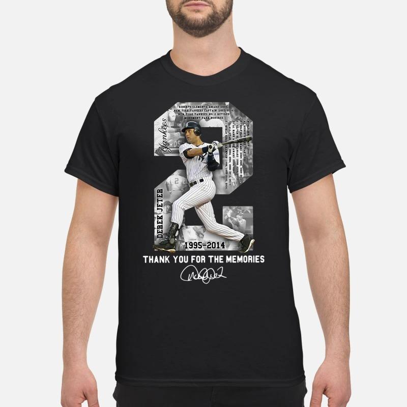 New York Yankees Derek Jeter 1995-2014 thank you for the memories shirt