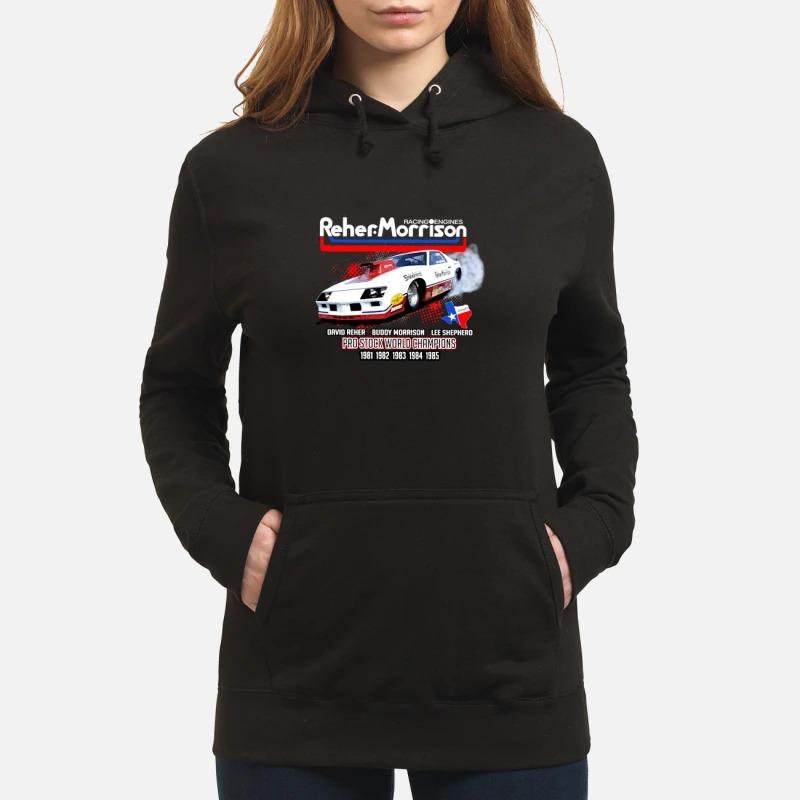 Reher Morrison Logo racing engines pro stock world champions Hoodie