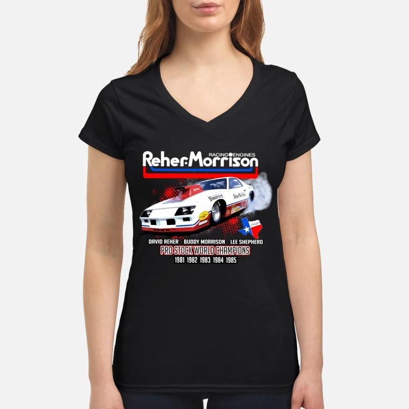 Reher Morrison Logo racing engines pro stock world champions Lady T
