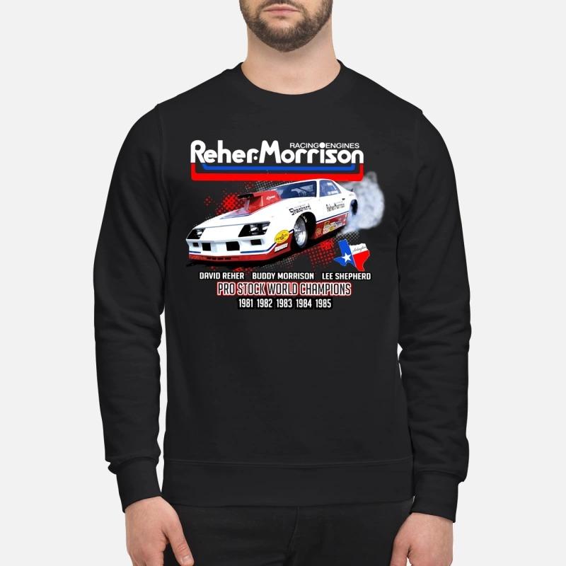 Reher Morrison Logo racing engines pro stock world champions Sweater