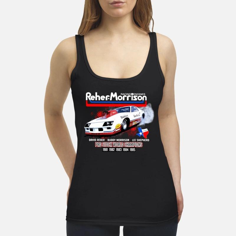 Reher Morrison Logo racing engines pro stock world champions Tank Top