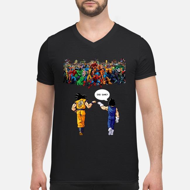 Super strength vs Goku and Vegeta V-neck T-shirt