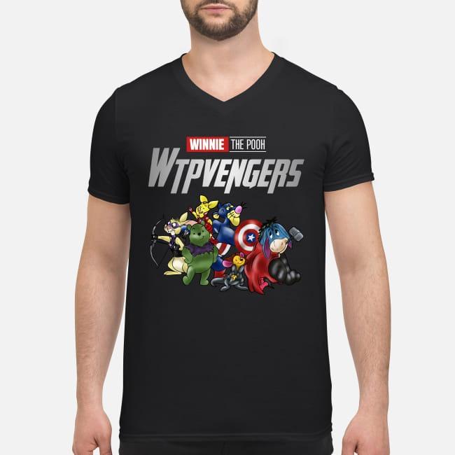 Winnie Pooh Winnieavengers Marvel Avengers V-neck T-shirt