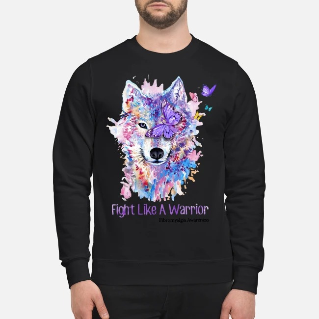 Wolves and Butterflys fight like a Warrior Sweater