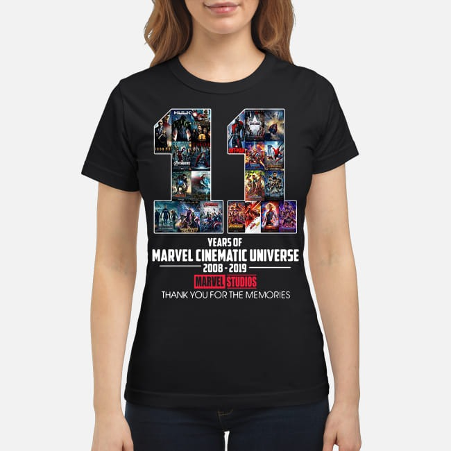 11th Years of Marvel Cinematic Universe 2008-2019 Ladies Tee