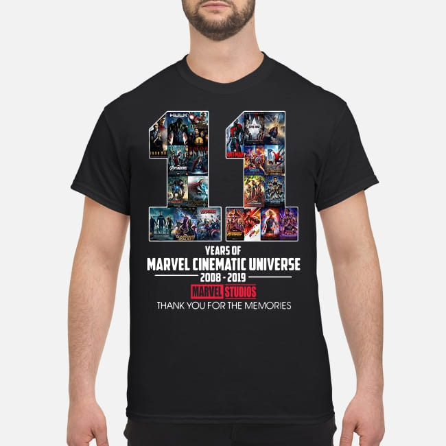 11th Years of Marvel Cinematic Universe 2008-2019 shirt