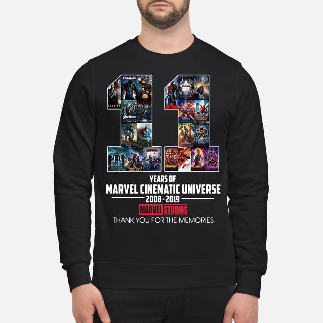 11th Years of Marvel Cinematic Universe 2008-2019 Sweater