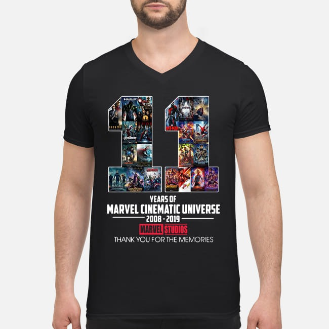 11th Years of Marvel Cinematic Universe 2008-2019 V-neck T-shirt