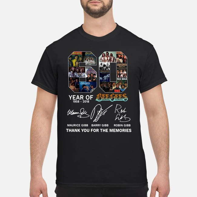 60th Year of Bee Gees 1958-2018 shirt