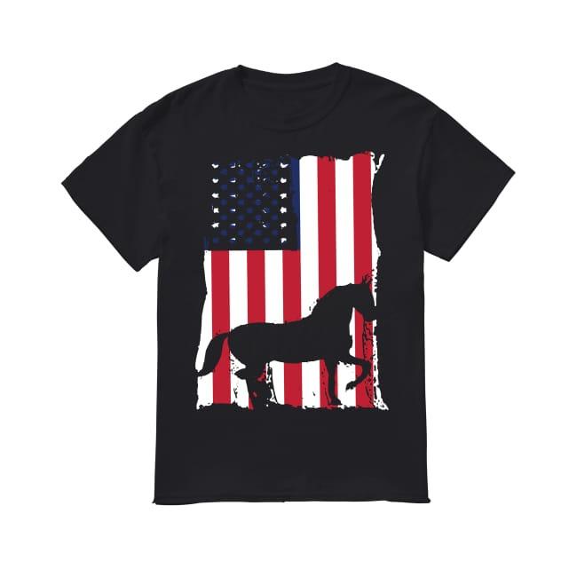 American Flag Horse shirt