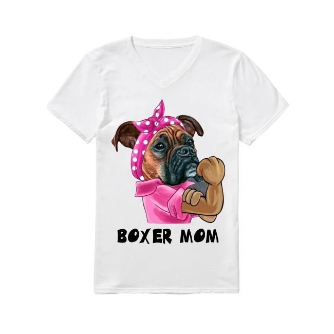 Boxer Dog Mom V-neck T-shirt