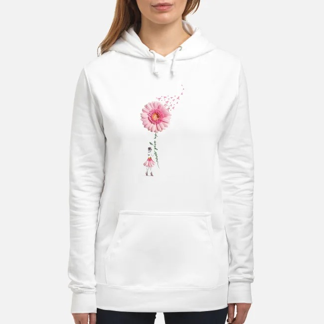 Breast Cancer Flower Girl never give up Hoodie
