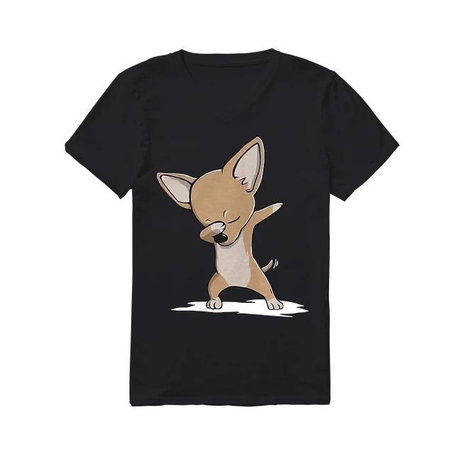 Chihuahua Dogs Dance V-neck T-shirt