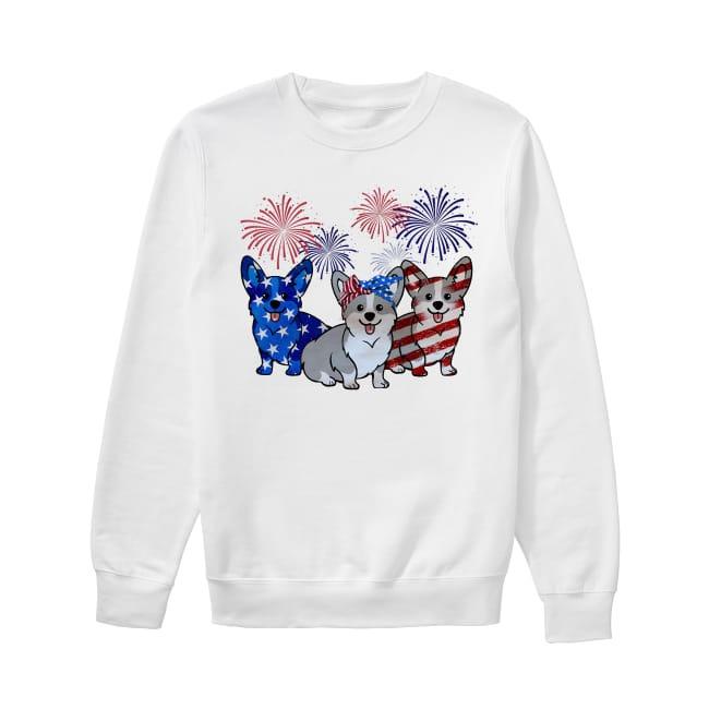 Corgis Dog Colors Flag America Sweater