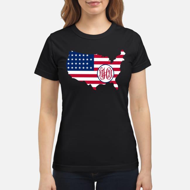 Flag America logo MHM Ladies Tee