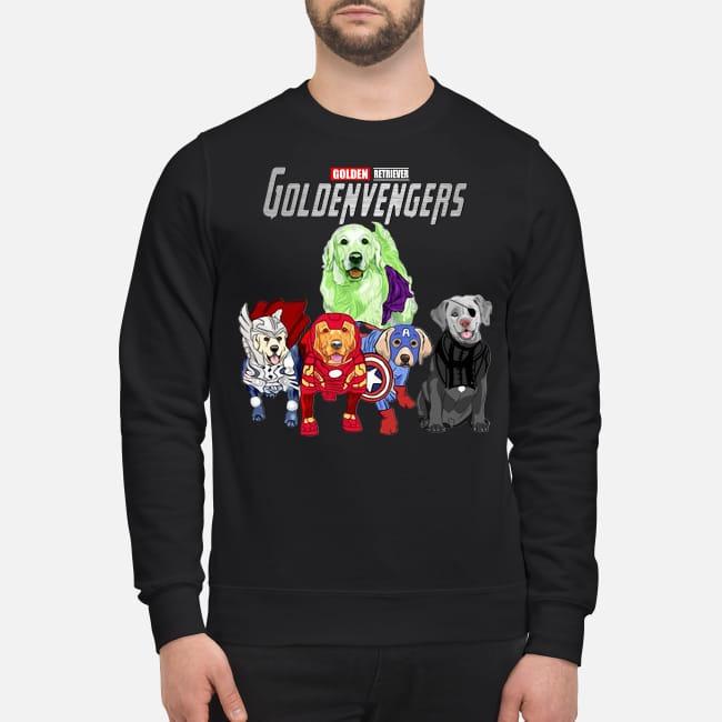 Golden Retriever Goldenvengers Dogs Marvel Avengers Endgame Sweater