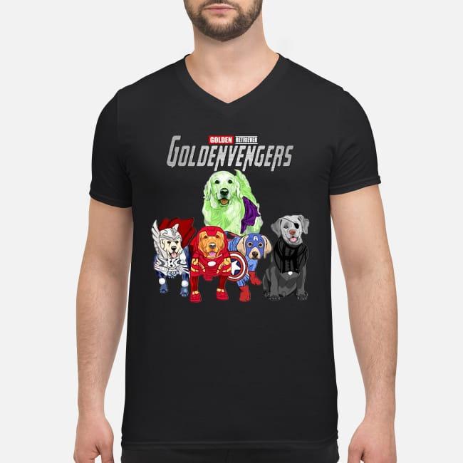 Golden Retriever Goldenvengers Dogs Marvel Avengers Endgame V-neck T-shirt