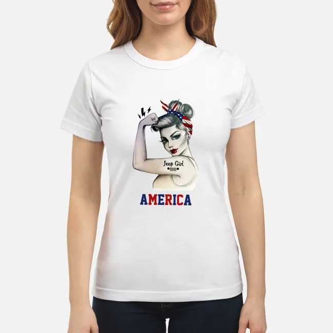 Jeep Girl America Ladies Tee
