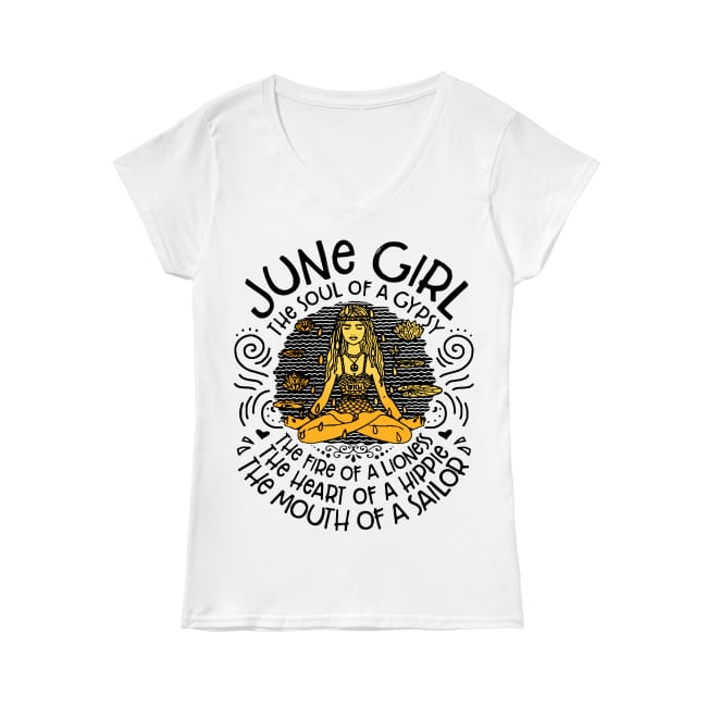 June Girl The soul of a gypsy V-neck T-shirt