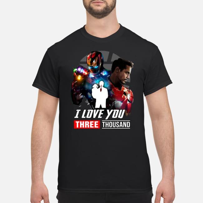 I love you 3000 Marvel Avengers shirt