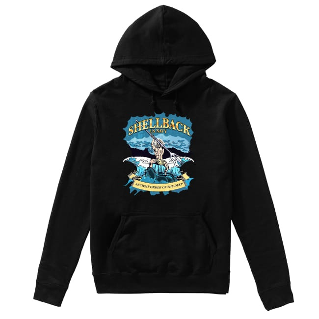 Shellback United States Navy ancient order of the deep Hoodie