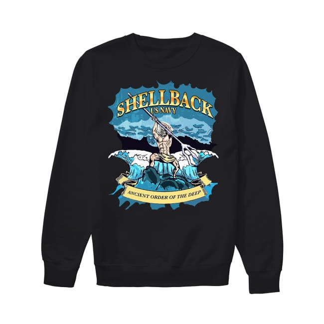 Shellback United States Navy ancient order of the deep Sweater
