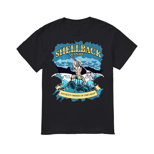 Shellback United States Navy ancient order of the deep shirt
