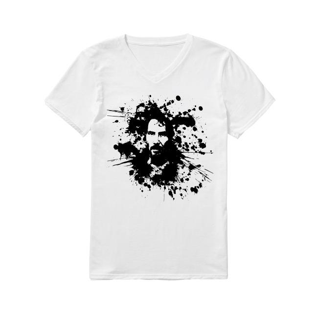 Splatterpaint Keanu Reeves John Wick V-neck T-shirt