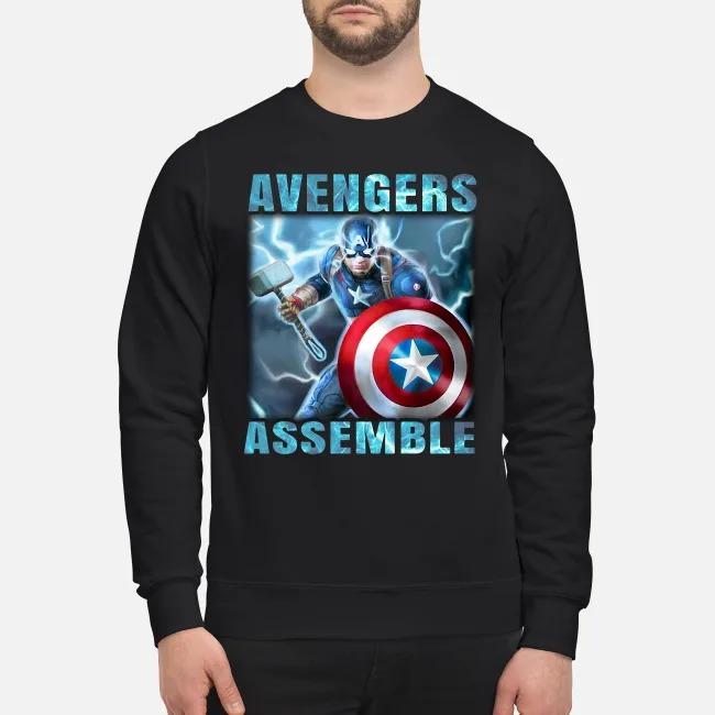 Super Heros Captain America Steve Rogers Marvel Avengers Assemble Sweater