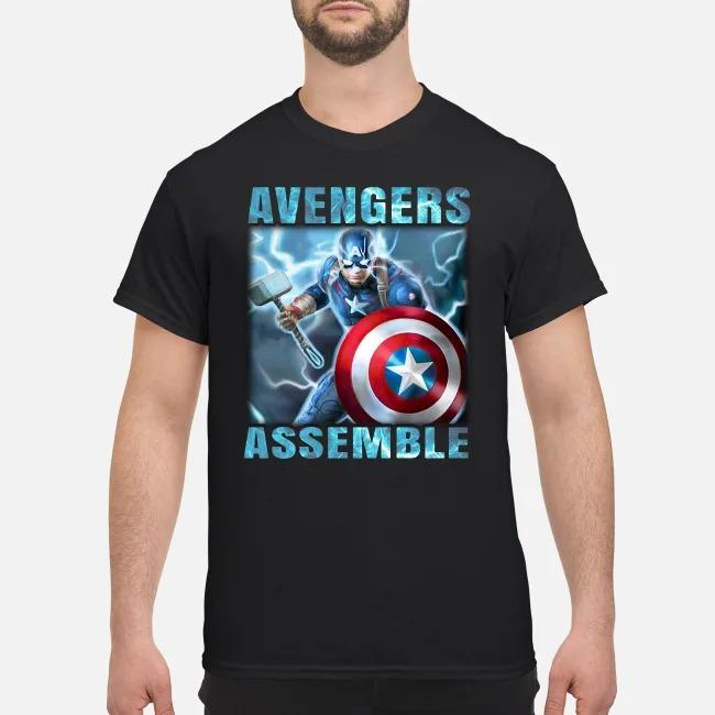 Super Heros Captain America Steve Rogers Marvel Avengers Assemble shirt