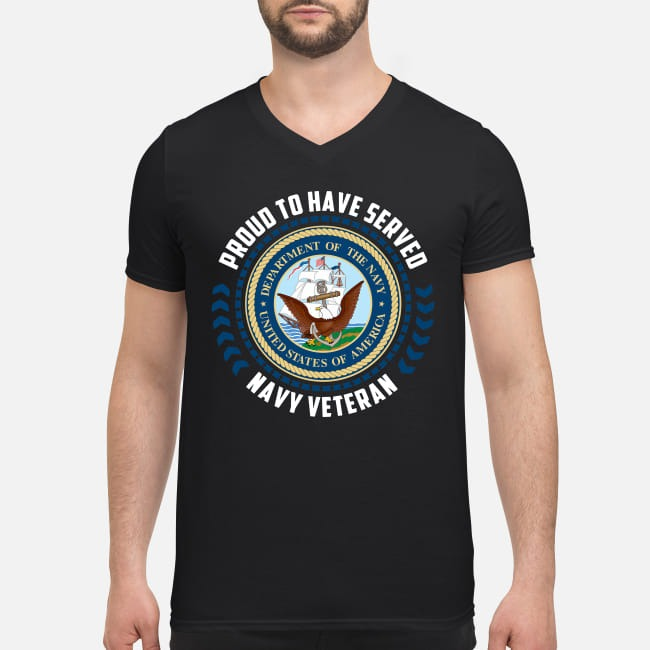 United States Navy Veteran Proud to have served V-neck T-shirt