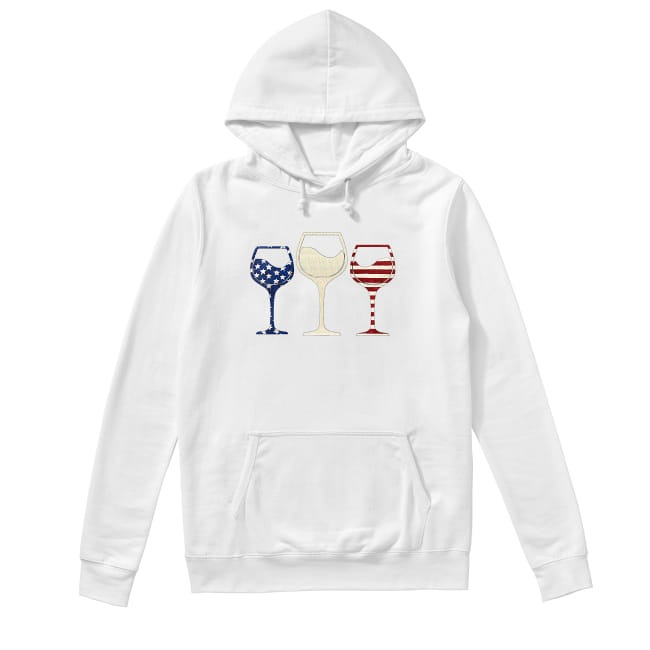 Wine colors flag America Hoodie