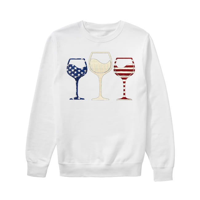 Wine colors flag America Sweater