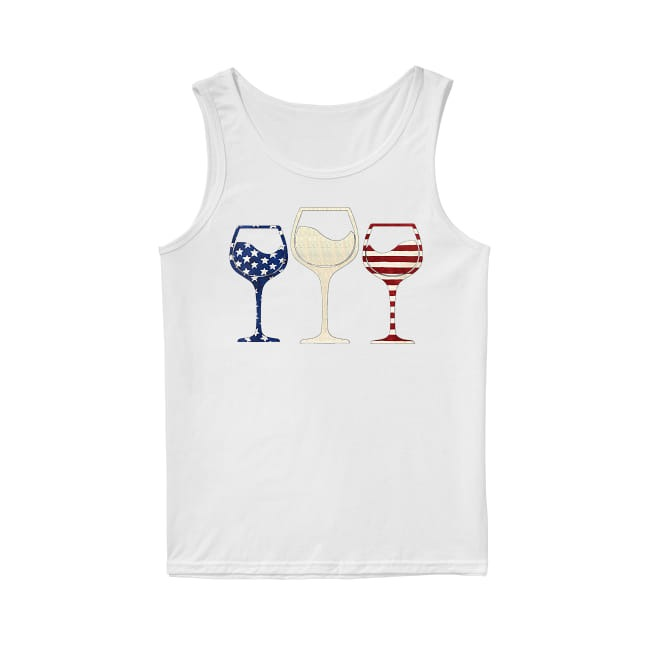 Wine colors flag America Tank Top