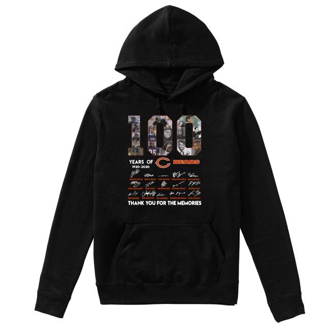 100th Years Of Chicago Bears 1920-2020 Hoodie