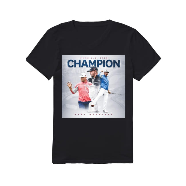 119th US Open Champion Gary Woodland V-neck T-shirt