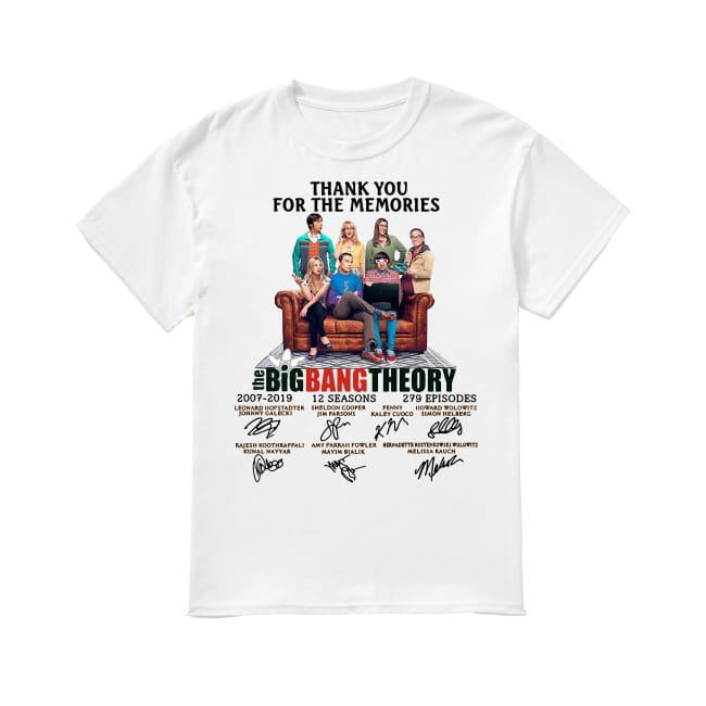 12th Years Of The Big Bang Theory 2007-2019 shirt