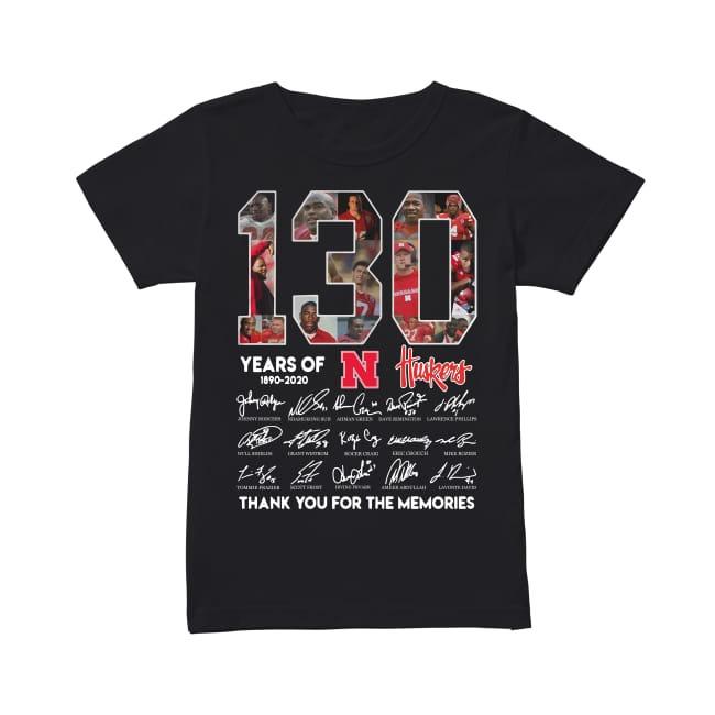 130th Years Of Nebraska Huskers 1890-2020 Ladies Tee