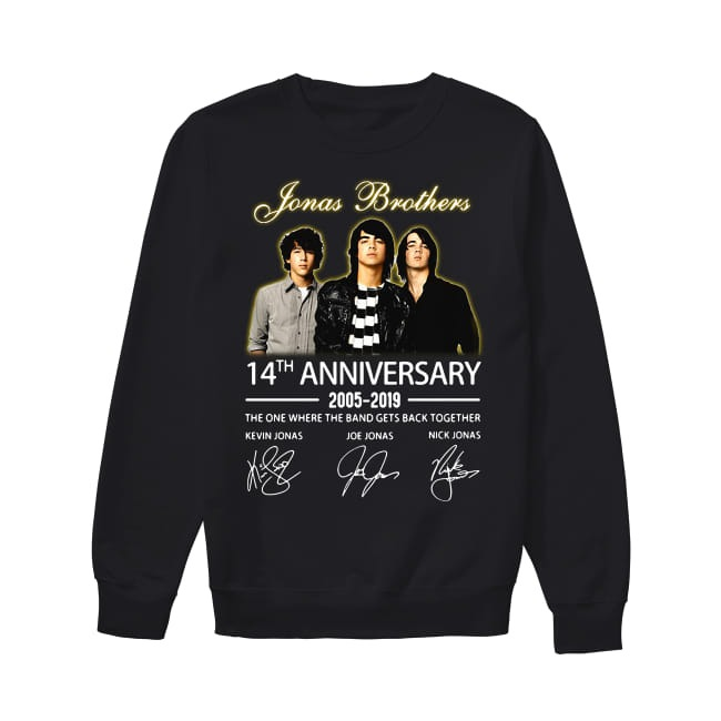14th Years Of Jonas Brothers anniversary 2005-2019 Sweater