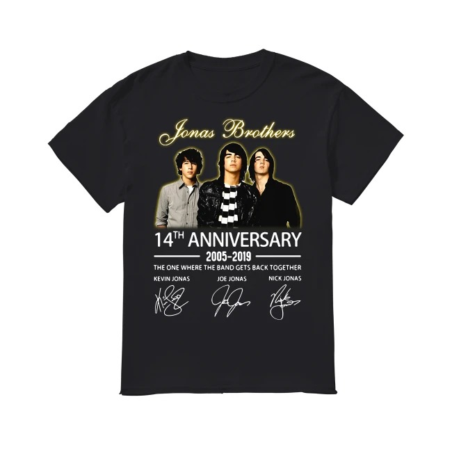 14th Years Of Jonas Brothers anniversary 2005-2019 shirt