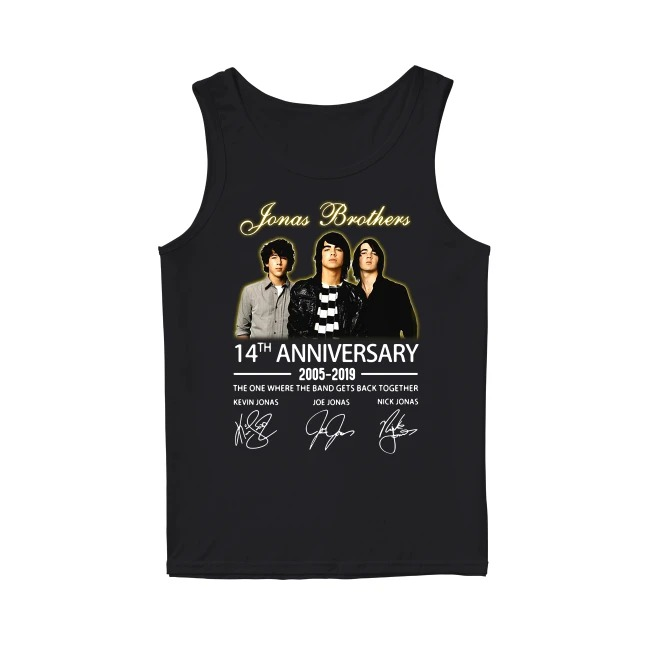 14th Years Of Jonas Brothers anniversary 2005-2019 Tank Top