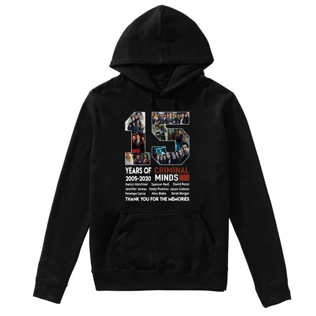15th Years of Criminal Minds 2005-2020 thank you for the memories Hoodie